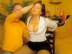 Submissive russian wife tied up and facefucked