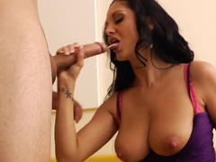 Busty milf Ava Addams pleasures young David Loso
