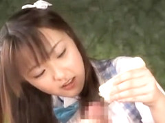 Amazing Japanese girl in Incredible Handjob, POV JAV movie