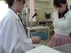 Dildo fuck for hot Jap during her medical examination