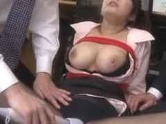 Best Japanese girl Kokoro Maki in Crazy Blowjob, Threesome JAV video