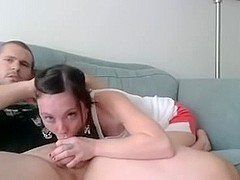 Lustful Homemade Deepthroat BJ