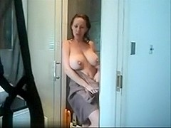 So sexy brunette wife make this things when husband are in work,!holy fuck!