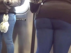 Bubble Ass taking the Train