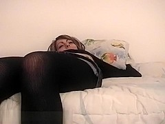 Pretty girl in pantyhose screwed