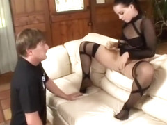 Alluring kitten Natasha Nice wears provoking outfit and has tender sex