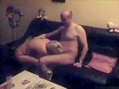 Swinger husband loves seeing his wife having a threesome with 2 friends