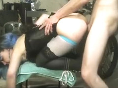 Horny homemade reversed cowgirl, cowgirl, blowjob adult scene
