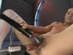 Amazing squirting, fetish porn movie with incredible pornstar Sara Luvv from Fuckingmachines