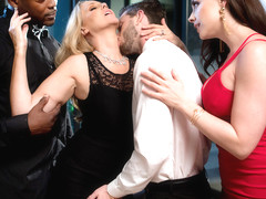 Chanel Preston & Julia Ann & Lucas Frost & Nat Turnher in Night Caps - BrazzersNetwork
