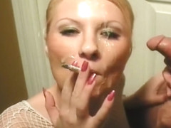 Smoking HJ & Cum Swallow 01