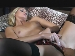 British whore Ashley Lengthy receives drilled in nylons