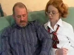 Stepdad Fucks His Ginger Stepdaughter !
