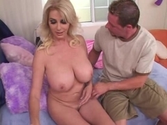 Busty blonde mommy