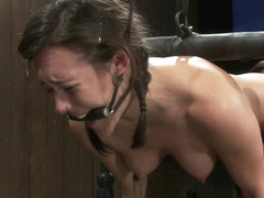 Isis Love  Sinn Sage in Bent Over a Post and Fucked - DeviceBondage