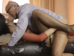 Teen Pussyrubs Milf Before Riding Old Man
