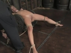 Amazonian GoddessAnnette Schwarz, 6'0, blond, bound, helpless, ass fucked and made to cum.