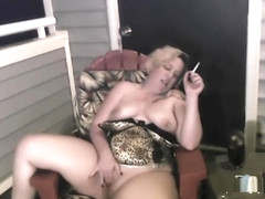 Smoking JOI Outside on Balcony