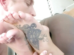 Busty Babe Pussyfucked After Footworship