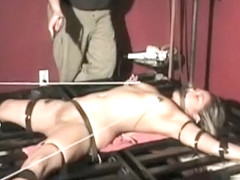 Sexy Slut Gets Bounded And Manhandled By A Large Stud