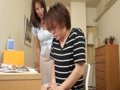Gentle tugjob of my mommy two