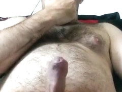 massive cum fountain with 14 huge cumshots spraying everywhere