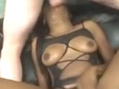 Black Hood Rat Whore Getting Face Smashed By Two Dicks